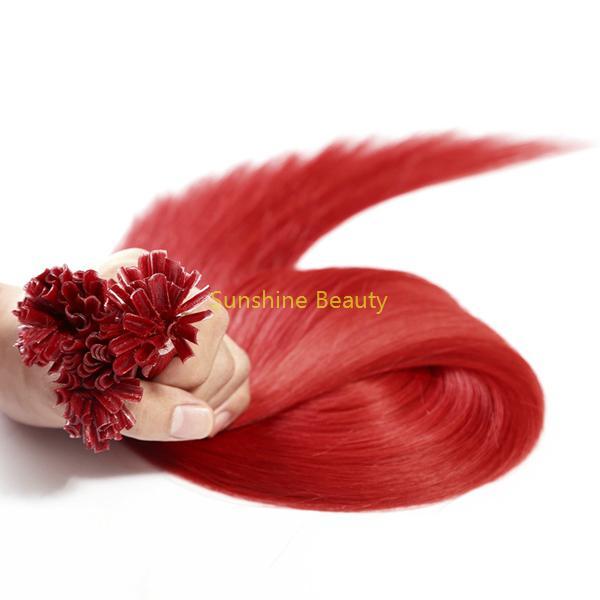 U  tip keratin hair prebonded hair remy hair 4