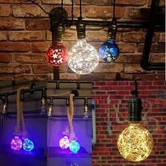 3W E26 Vintage g95 decorative bulb 2400K led copper wire light