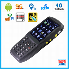 Android handheld pda with barcode scanner