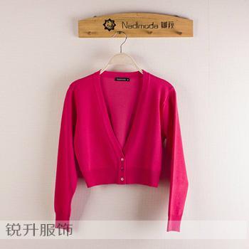 東莞工廠外貿毛衣加工簡約針織衫 5