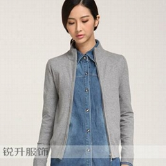 Hot Sale Zip Cardigan Sweater Processing In Dongguan Sweater Factory