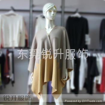 東莞大朗毛衣工廠來樣加工針織披肩 1