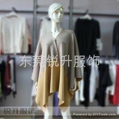 東莞大朗毛衣工廠來樣加工針織披肩