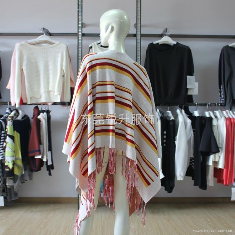 東莞大朗毛衣工廠來樣加工針織披肩 2