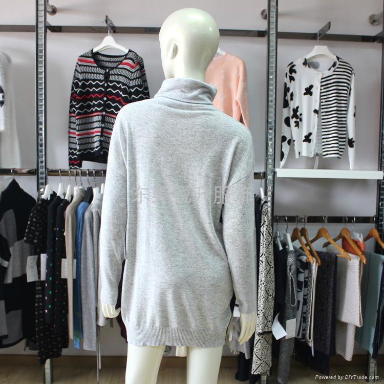 亮片設計高領套頭外貿毛衣加工 4