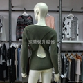 新款女式交叉V領長袖純棉針織毛衣加工 2