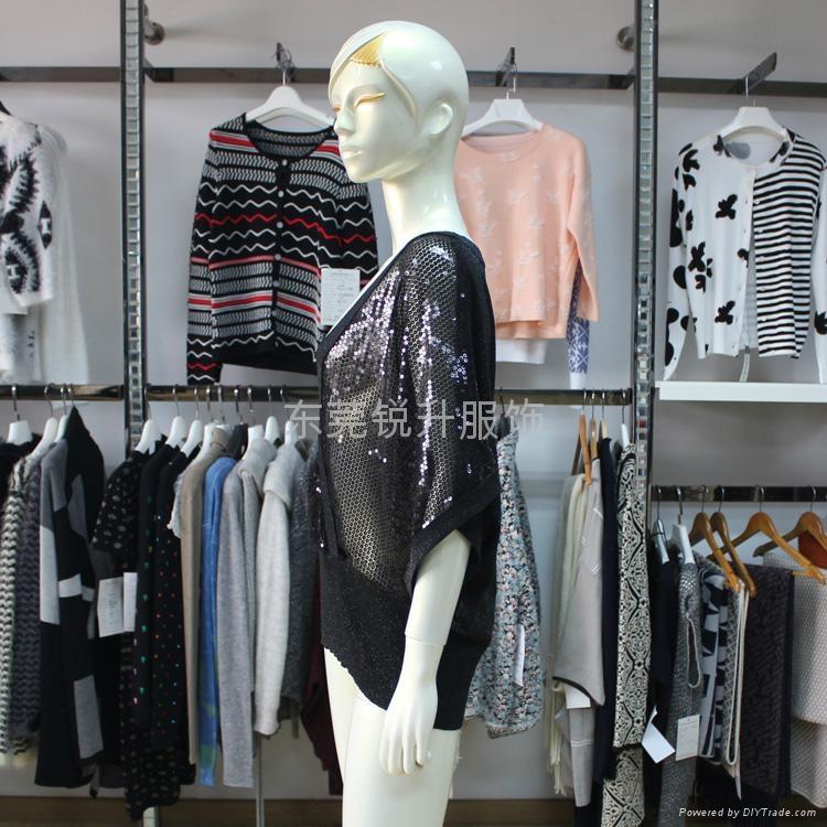 時尚款女式透明性感亮片毛衫加工 3