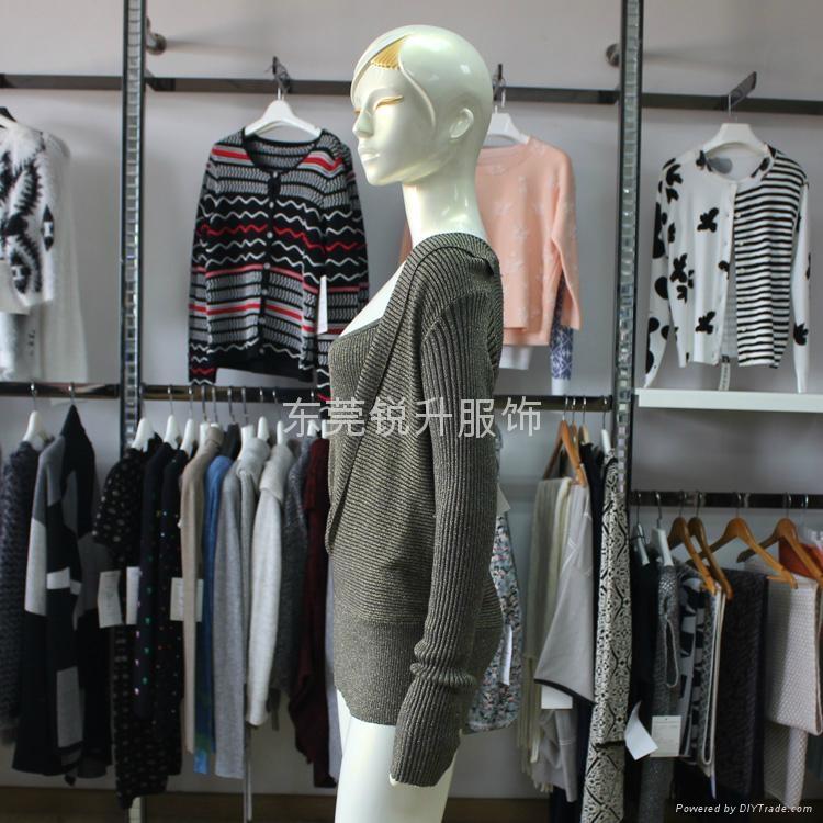 外貿工廠加工女性時尚假兩件性感鏤空毛衣 3