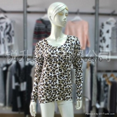 Leopard Print Sweater Dongguan Factory OEM Services
