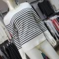 長短袖條紋設計毛衣針織女裝