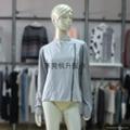 外貿毛衣加工廠生產女式拼接拉鍊