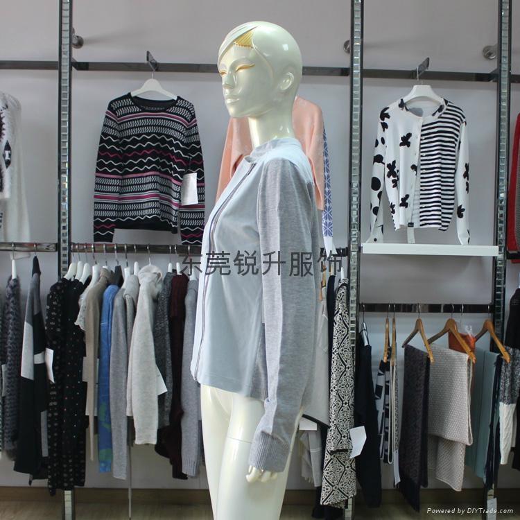 外貿毛衣加工廠生產女式拼接拉鍊毛衣 3