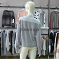 外貿毛衣加工廠生產女式拼接拉鍊毛衣 4