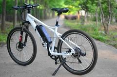 White new model bike electric power.36V 250W mountain bike