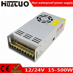 12/24V 15-500W constant voltage non waterproof LED power supply