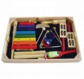 Orff Percussion Musical wood colorful claves hit toy 2
