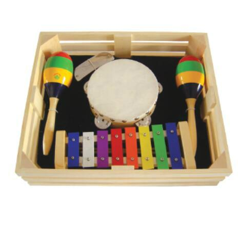 Orff Percussion Musical wood colorful claves hit toy 3