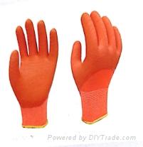 13 gauge orange polyester orange latex wave crinkle half coat Latex