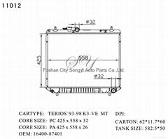 Hot Sale Car Radiator for DAIHATSU Terios '93-98 K3-Ve MT