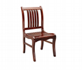 Professional wooden kid table & chair,high back wooden dining chair 3
