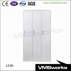 Metal Industrial Storage Garment 3 Door Gym Locker