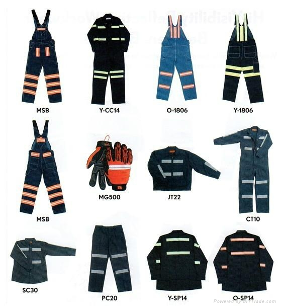 Poly cotton twill safety workwear coverall  1