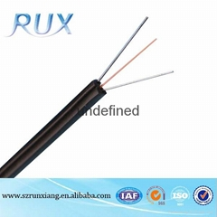 Hot Selling PVC jacket 4 core FTTH drop fiber optic cable meter price