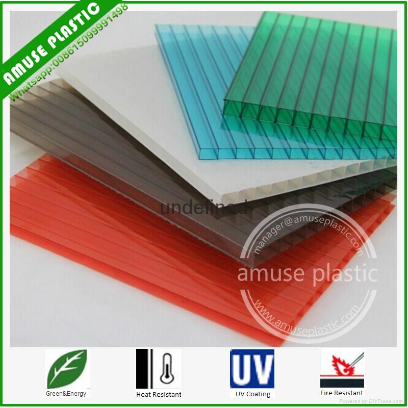 Lexan Polycarbonate Roofing Twin-Wall Hollow Sheet 10mm