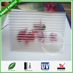 100% Virgin Crystal PC Two-layers Sheet Frosted Polycarbonate Hollow Sheet