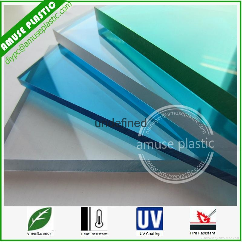 High Quality Bayer UV-Protection Plastic Polycarbonate PC Solid Flat Sheet 5