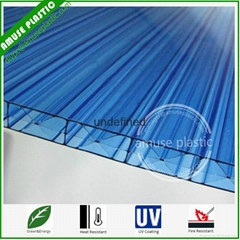 16mm Triple Wall Polycarbonate Sheet Blue X Multi Wall Hollow Board