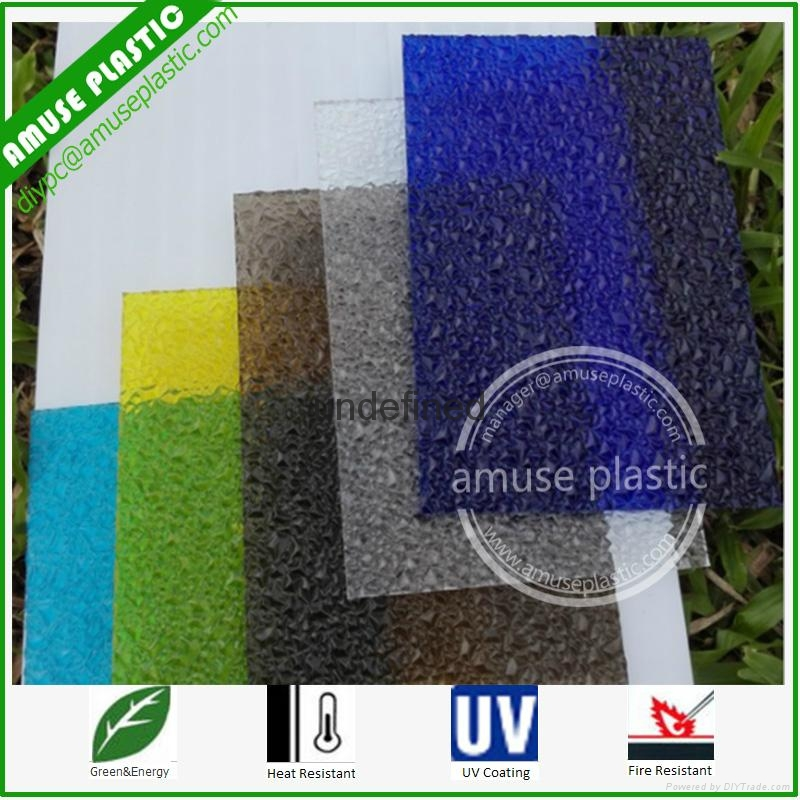 Colored Frosted Polycarbonate Embossed Solid Boards Sabic PC