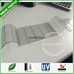 Lexan Bayer, Policarbonato, Solid Corrugated Polycarbonate Wall Roofing Sheet