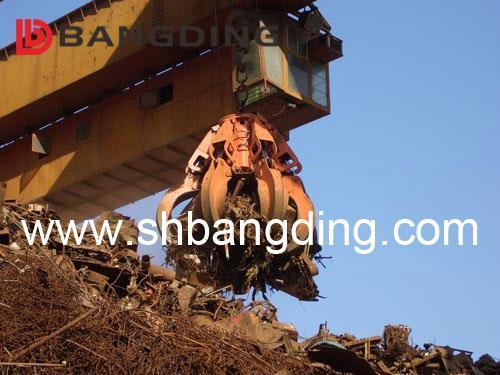 Electric Hydraulic scrap grab orange peel grab 1