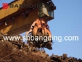 Electric Hydraulic scrap grab orange