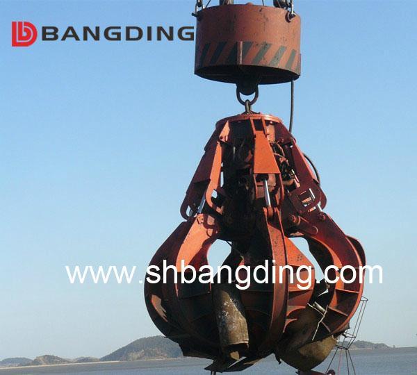 Electric Hydraulic scrap grab orange peel grab 2