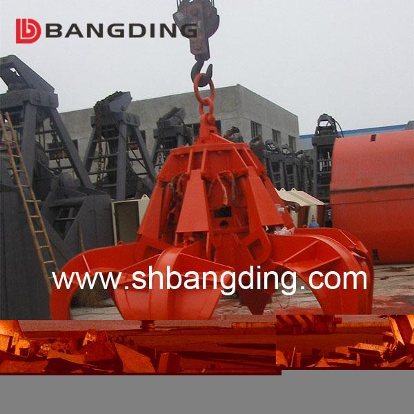 Electric Hydraulic scrap grab orange peel grab 3