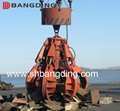 Electric Hydraulic scrap grab orange peel grab 4