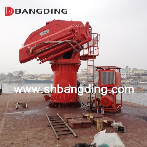 Electro Hydraulic telescopic boom Marine Deck Crane 4
