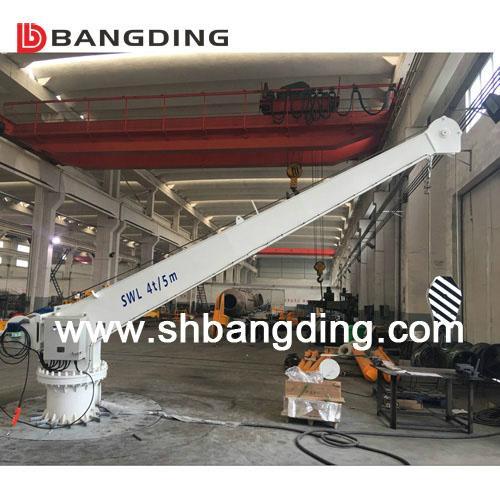 Electrical straight boom deck Marine Crane 4T5m 1