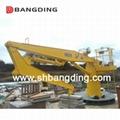 Electrical straight boom deck Marine Crane 4T5m 2