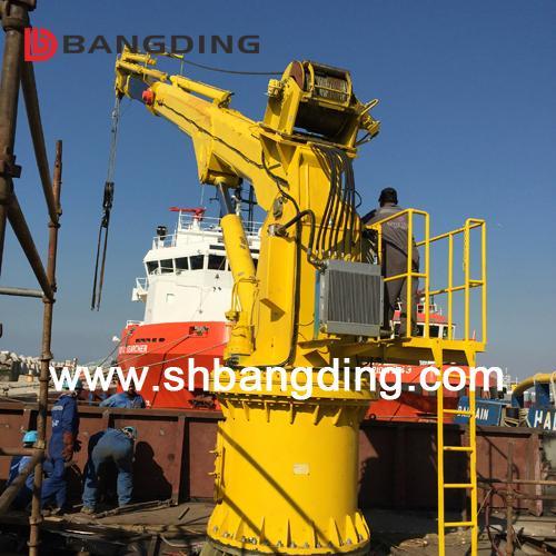Electrical straight boom deck Marine Crane 4T5m 3