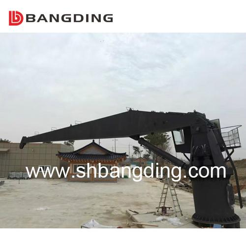 Electrical straight boom deck Marine Crane 4T5m 4