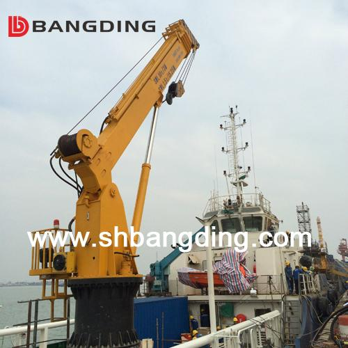 Electrical straight boom deck Marine Crane 4T5m 5