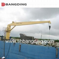 Offshore marine Knuckle Boom Crane Pedestal crane