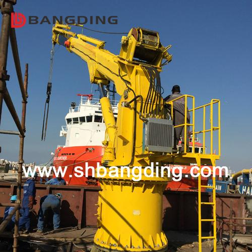 Offshore marine Knuckle Boom Crane Pedestal crane 5