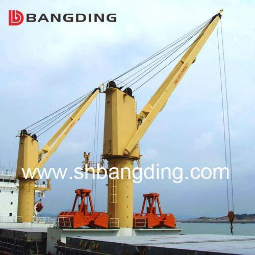 Electrical kunckle boom Marine deck Crane 4T5m 1