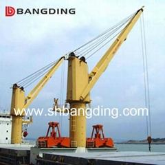 Electrical kunckle boom Marine deck Crane 4T5m