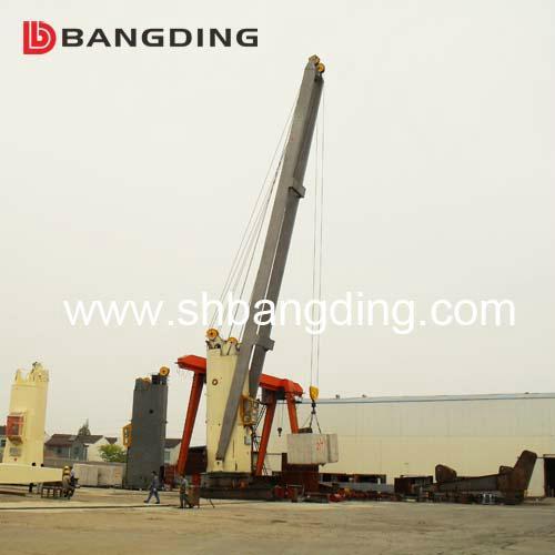Electrical kunckle boom Marine deck Crane 4T5m 2