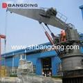 Electrical kunckle boom Marine deck Crane 4T5m 3